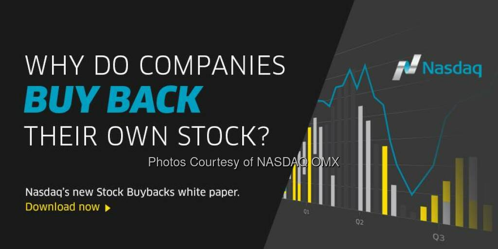 Aktienrückkauf: Ever wonder why companies buy back their own stock? Learn more in our latest White Paper on Stock Buybacks http://spr.ly/6185Svv7  Source: http://facebook.com/NASDAQ (08.11.2014)