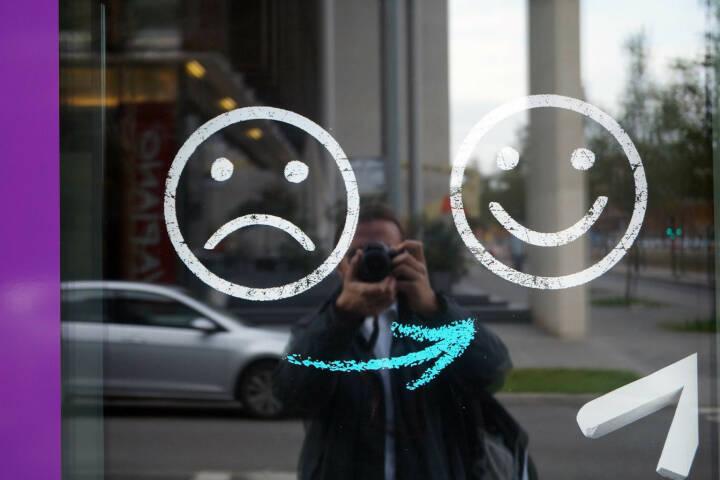 Weinen Lachen Stimmung gut