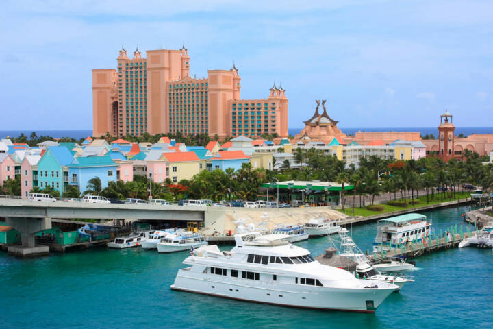 Bahamas, Nassau, Yacht, 61574/stock-photo-paradise-island-and-atlantis-resort-in-nassau-bahamas.html