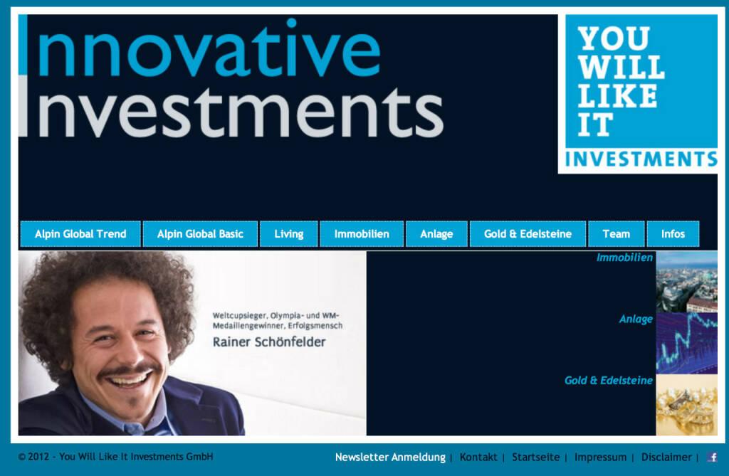 Rainer Schönfelder bringt Investmentfonds, © Aussender (13.11.2014)