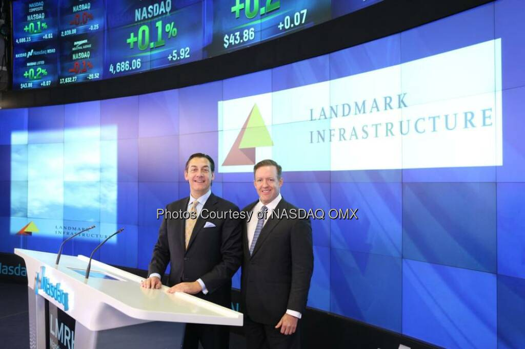 Landmark Infrastructure Partners LP rings the Nasdaq closing bell! $LMRK  Source: http://facebook.com/NASDAQ (15.11.2014)