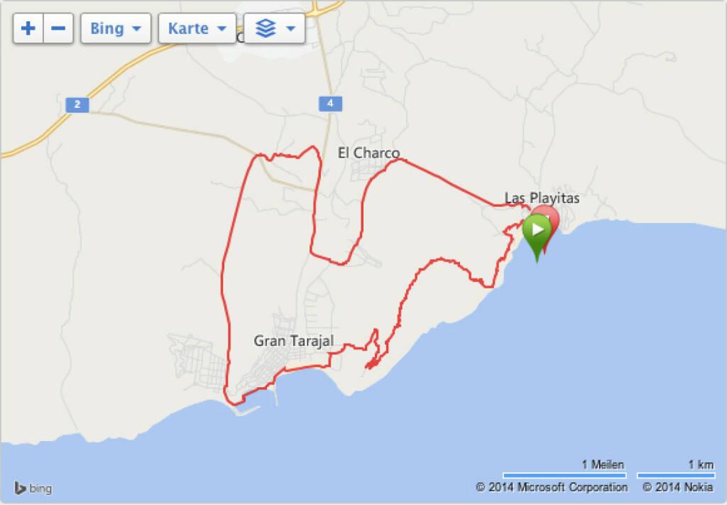 Monika Kalbacher: Fuerteventura, 18 km über Berge (15.11.2014)