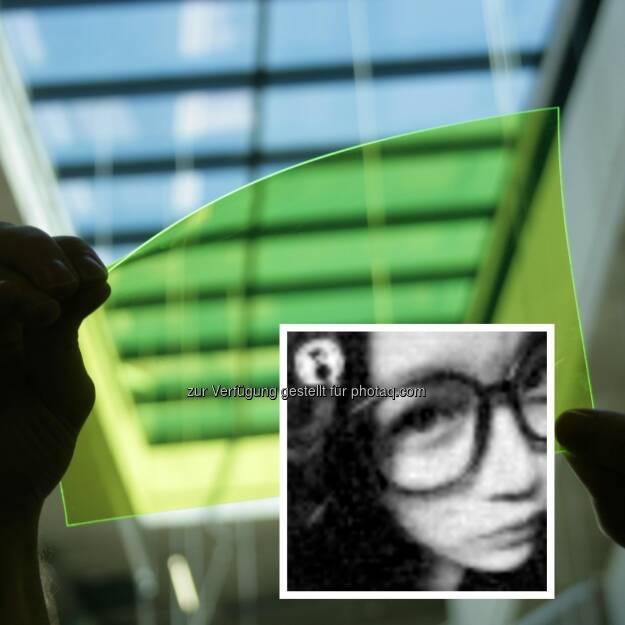 JKU Linz: Transparenter und biegbarere Bildsensor und Rekonstruktionsergebnis eines Bildes, © Aussendung (17.11.2014)