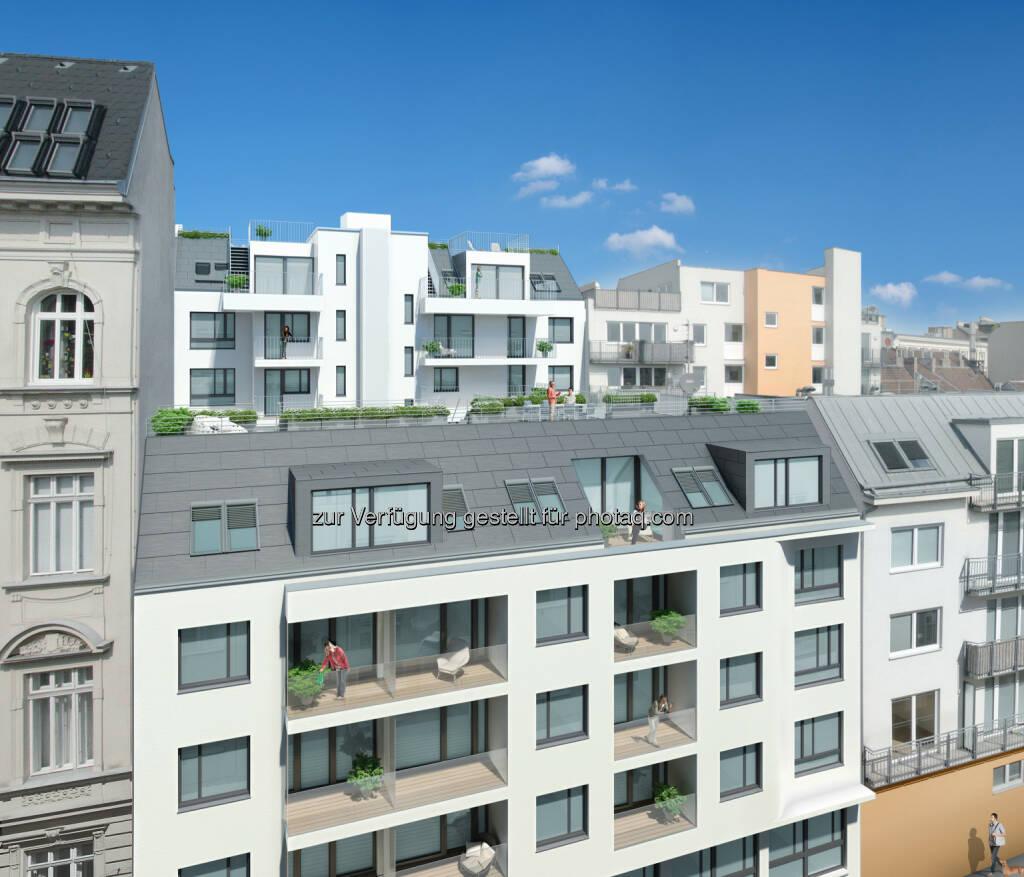 Raiffeisen-Leasing GmbH: Raiffeisen-Leasing errichtet neues Wohnhaus in Mariahilf, © Aussendung (17.11.2014)