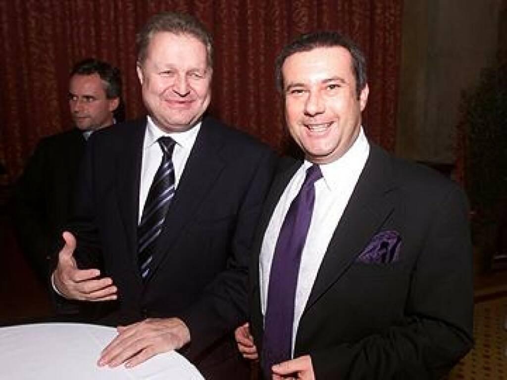Wolfgang Auer von Welsbach mit AvW-Vorstandskollegen Hans Linz, der so nebenbei auch Präsident des DSV Leoben ist (17.11.2014)