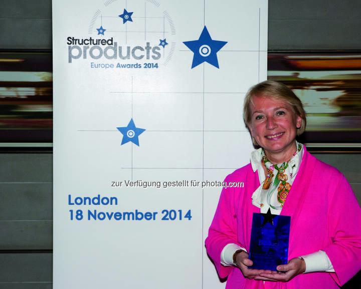 Heike Arbter, Head of Structured Products RCB; gewinnt mit ihrem Haus den Structured Products Europe Award