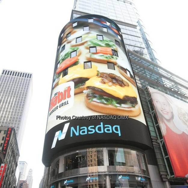 Great day for a great company! @habitburgergrill is #NasdaqListed today! Welcome to the #Nasdaq family $HABT #NewHabitinTown #IPO  Source: http://facebook.com/NASDAQ (21.11.2014)