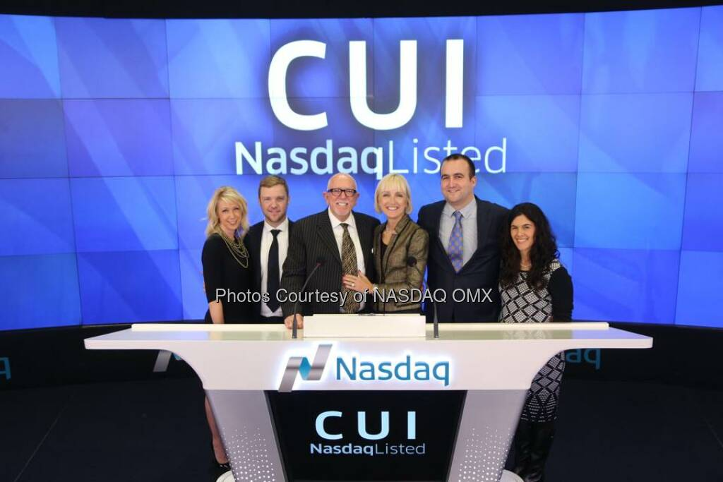 CUI Global, Inc. rings the #Nasdaq Closing Bell! $CUI  Source: http://facebook.com/NASDAQ (25.11.2014)