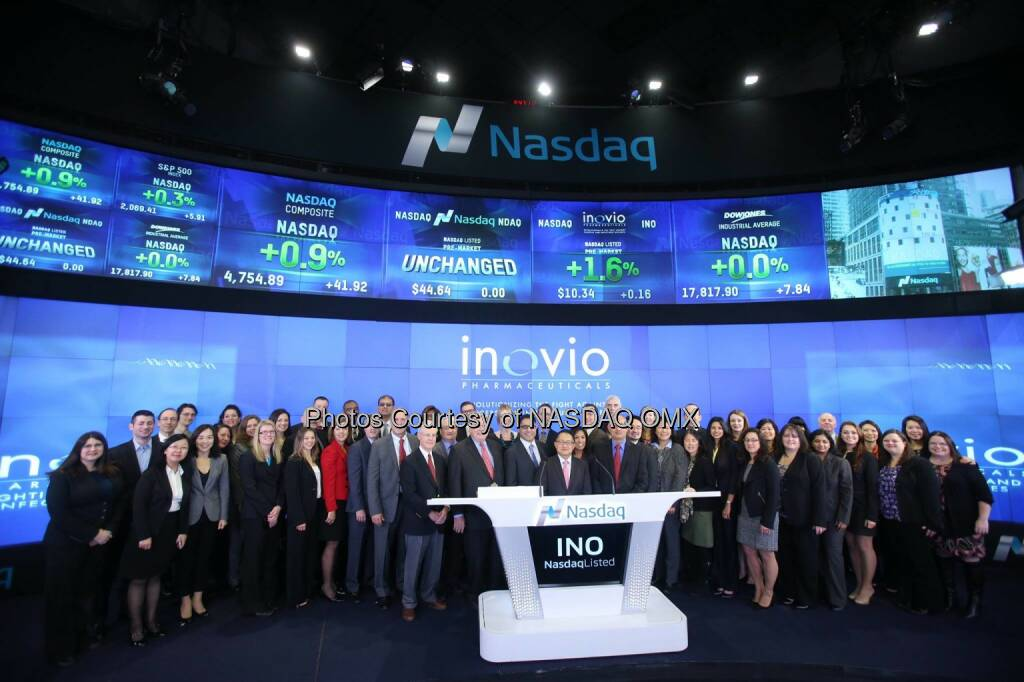 Inovio Pharmaceuticals, Inc. rings the #Nasdaq Opening Bell! $INO #OpeningBell  Source: http://facebook.com/NASDAQ (25.11.2014)