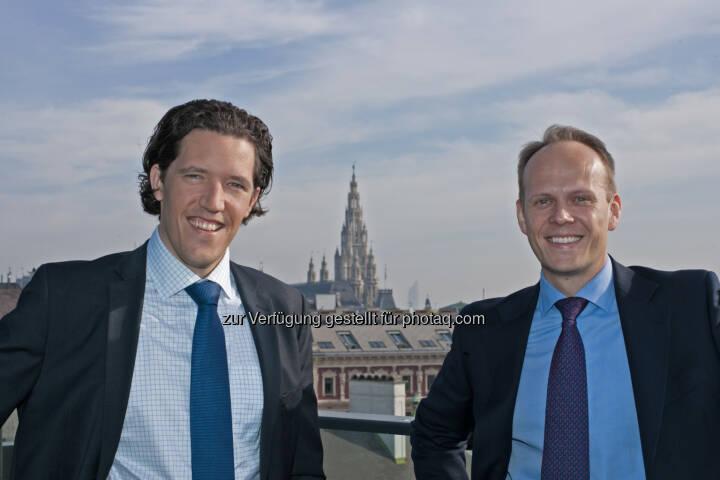 """Mark Valek, Ronald Stöferle: Ihr """"Austrian Economics Golden Opportunities"""" Fonds ist bei den FERI EuroRating Awards 2015 in der Kategorie """"Fund Innovations"""" ausgezeichnet worden. Der Preis stelle einen großen Erfolg für das Fondsmanagement, die Incrementum AG und auch für das junge Thema """"Austrian Investing"""" dar."""
