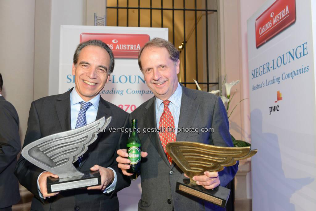 Henkel-CEE-Chef Günter Thumser und Brau Union Österreich Generaldirektor Markus Liebl: Austria's Leading Companies, © Aussendung (27.11.2014)