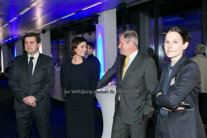 Dietmar Reindl (COO Immofinanz), Birgit Noggler (CFO Immofinanz), Eduard Zehetner (CEO Immofinanz), Bettina Schragl (Head of Corporate Communications Immofinanz), http://privatanleger.immofinanz.com/