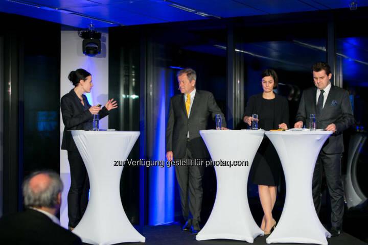 Bettina Schragl (Head of Corporate Communications Immofinanz), Eduard Zehetner (CEO Immofinanz), Birgit Noggler (CFO Immofinanz), Dietmar Reindl (COO Immofinanz), http://privatanleger.immofinanz.com/