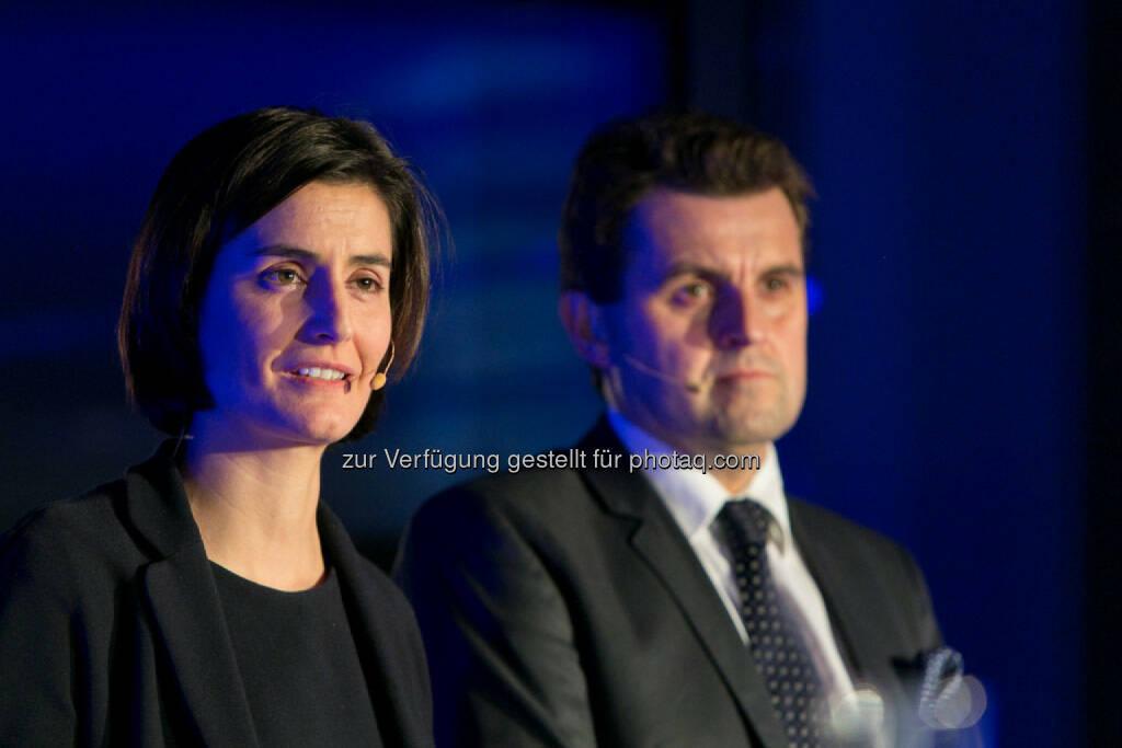 Birgit Noggler (CFO Immofinanz), Dietmar Reindl (COO Immofinanz), http://privatanleger.immofinanz.com/, © Martina Draper für Immofinanz (27.11.2014)