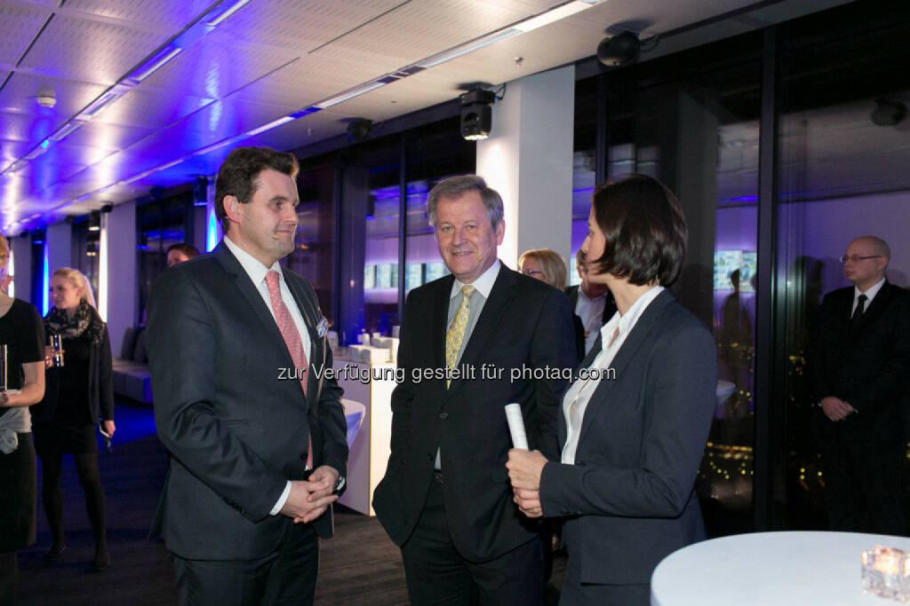 Dietmar Reindl (COO Immofinanz), Eduard Zehetner (CEO Immofinanz), Birgit Noggler (CFO Immofinanz), http://privatanleger.immofinanz.com/, © Martina Draper für Immofinanz (27.11.2014)