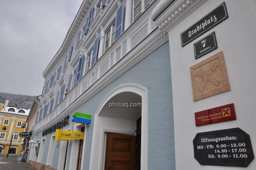 Raiffeisenbank Radstadt, © finanztmarktfoto.at (08.02.2013)