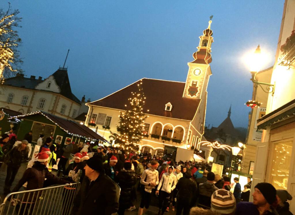 Altstadt Mödling, Start/Ziel-Bereich (01.12.2014)