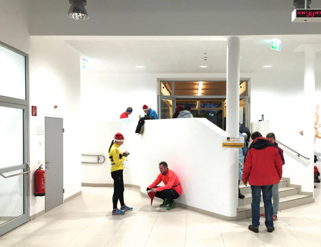 Logistikcenter in einer Mödlinger Schule (01.12.2014)