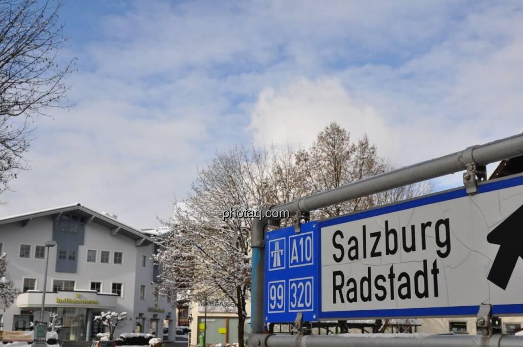 Raiffeisenbank Altenmarkt, Weg nach Radstadt, © finanztmarktfoto.at (08.02.2013)