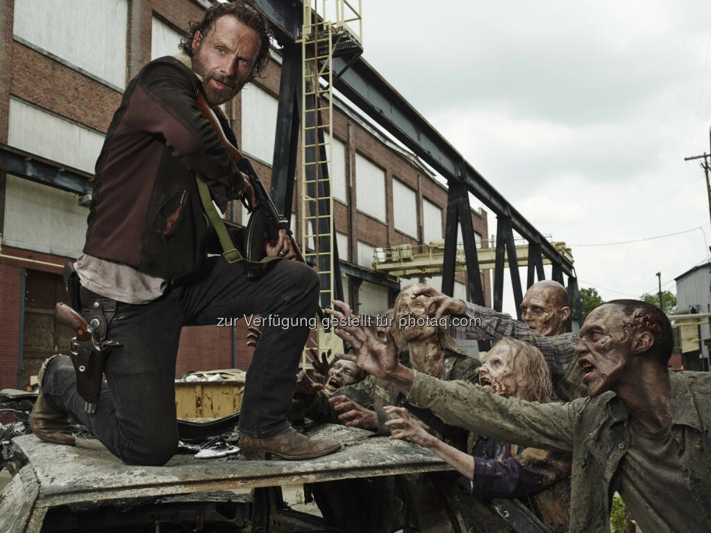 Andrew Lincoln (alias Rick Grimes): The Walking Dead geht in die internationale Winterpause: Globale Premiere von Staffel 5B ab 9. Februar 2015 (Bild: Frank Ockenfels 3/AMC), © Aussender (01.12.2014)