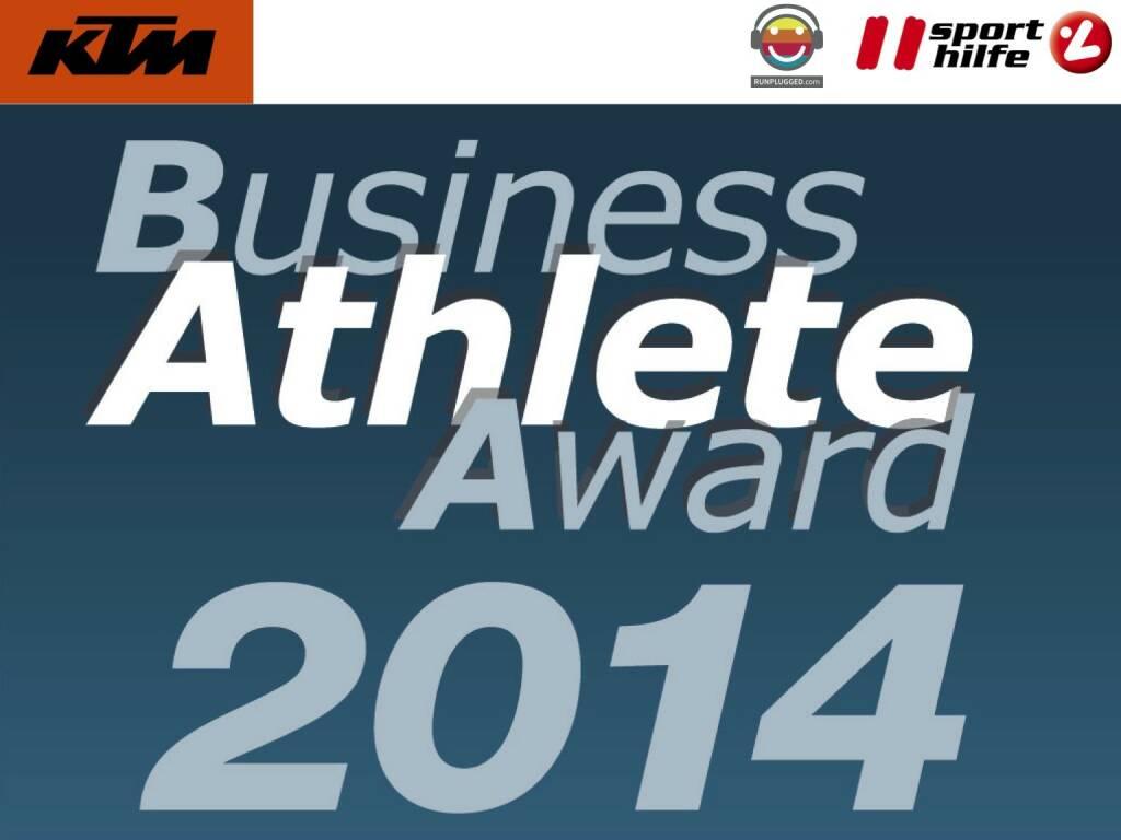 Business Athlete Award 2014 (02.12.2014)