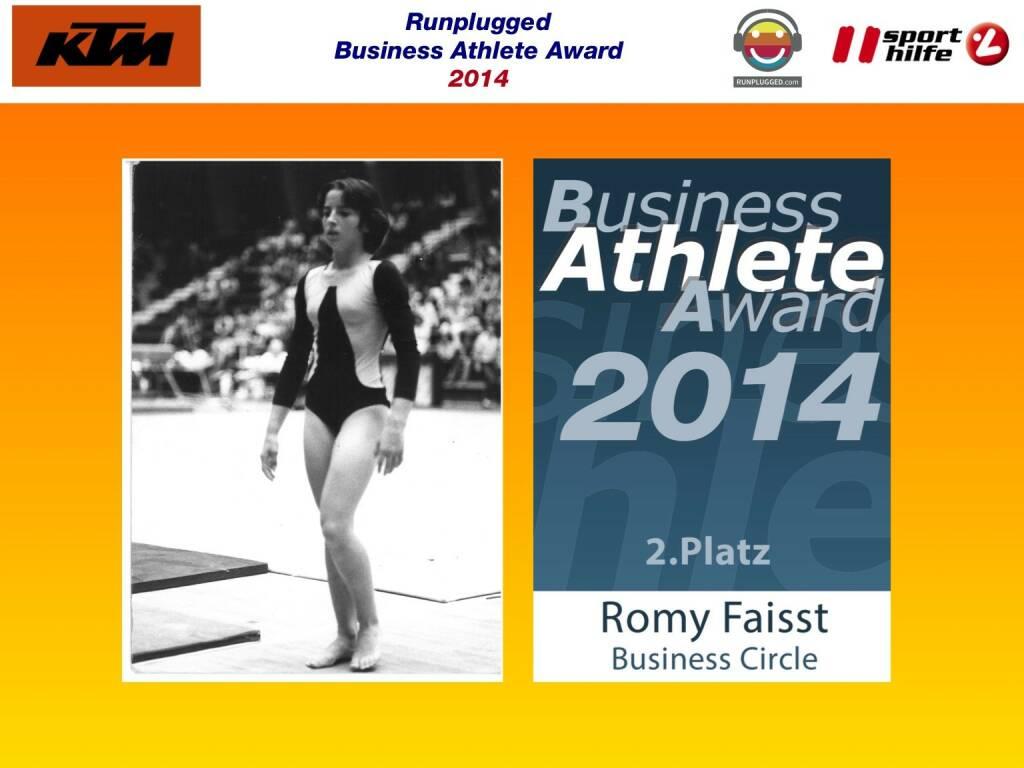 2. Platz Romy Faisst (02.12.2014)