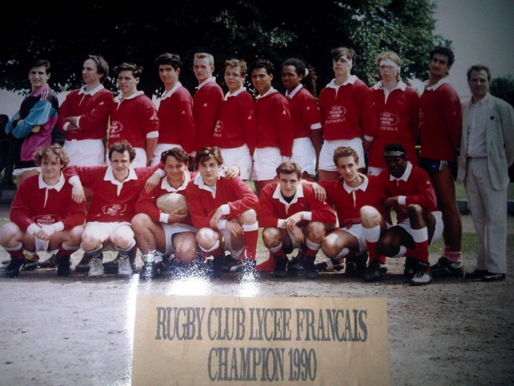 Rugby Club Lycee 1990 Toto Wolff, Rene Berger (02.12.2014)