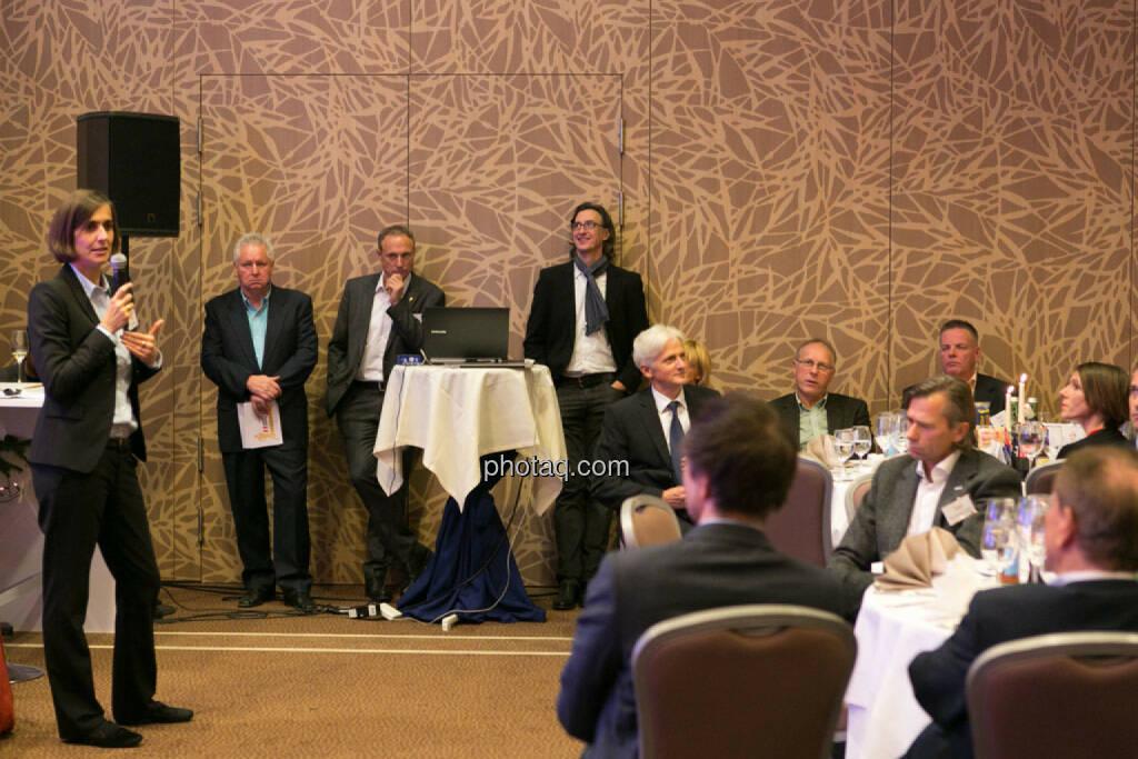 Sporthilfe Sport- und Business Circle, Runplugged Business Athlete Award, Renate Imoberdorf (Center for Sports and Management, WHU – Otto Beisheim School of Management), Sigi Heinrich (Eurosport), Toni Schutti (Österreichische Sporthilfe), Josef Chladek, © photaq/Martina Draper (02.12.2014)