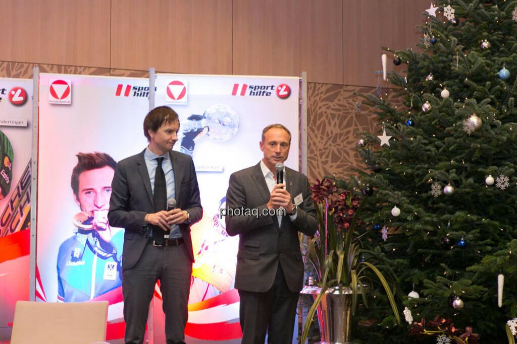 Werner Starz (Director Marketing & Channel Development Eurosport), Toni Schutti (Österreichische Sporthilfe), © photaq/Martina Draper (02.12.2014)