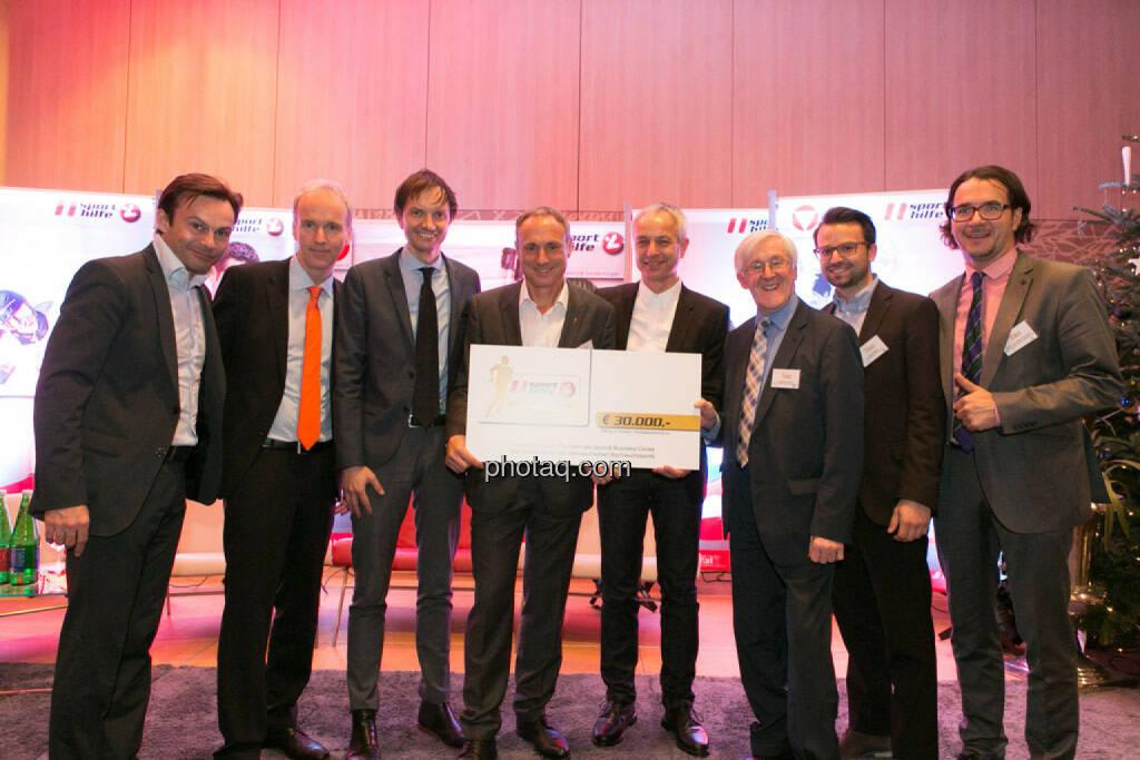 Christian Drastil, Werner Starz (Director Marketing & Channel Development Eurosport), Toni Schutti (Österreichische Sporthilfe), © photaq/Martina Draper (02.12.2014)