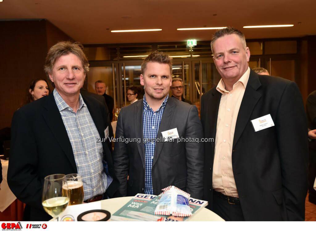 Andreas Sachs, Konrad Wilczynsky und Stefan Hoellerl. (Photo: GEPA pictures/ Martin Hoermandinger) (02.12.2014)
