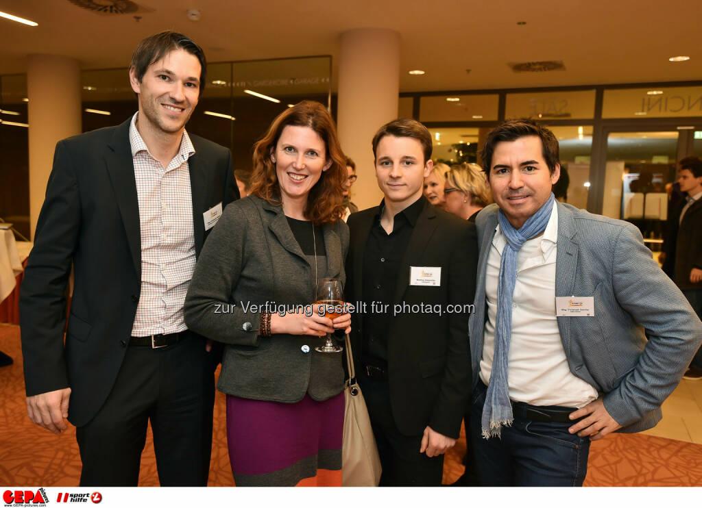 Christoph Stadler, Katharina Braun, Mathias Stelzmueller und Christoph Dechler. (Photo: GEPA pictures/ Martin Hoermandinger) (02.12.2014)