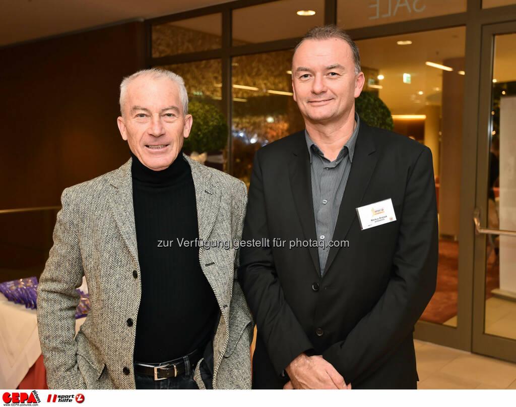 Helmut Spraiter und Markus, Brejzek. (Photo: GEPA pictures/ Martin Hoermandinger) (02.12.2014)