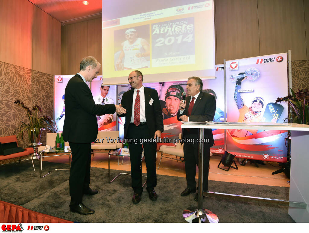 Christian Drastil, Franz Gschiegl und Hans Huber. (Photo: GEPA pictures/ Martin Hoermandinger) (02.12.2014)