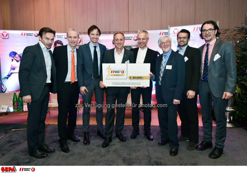 Severin Moritzer, Christian Drastil, Werner Starz, Anton Schutti, Rupert Hirner, Manfred Dimmy, Daniel Zuber and Herbert Schmid. (Photo: GEPA pictures/ Martin Hoermandinger) (02.12.2014)