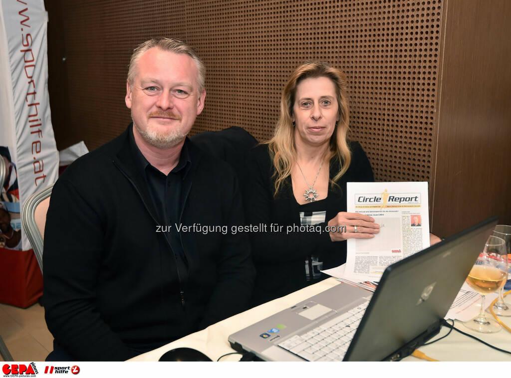 Michael Dachauer und Erika Hofer. (Photo: GEPA pictures/ Martin Hoermandinger) (02.12.2014)