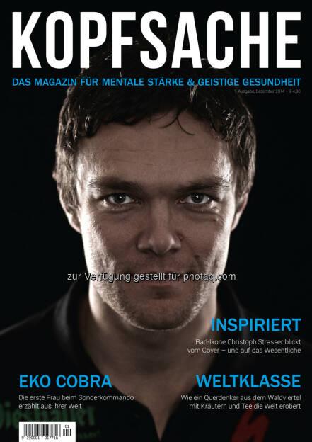 Die Sportagentur - Doris Fasching: Das neue Magazin Kopfsache ab jetzt im Handel!, © Aussender (03.12.2014)