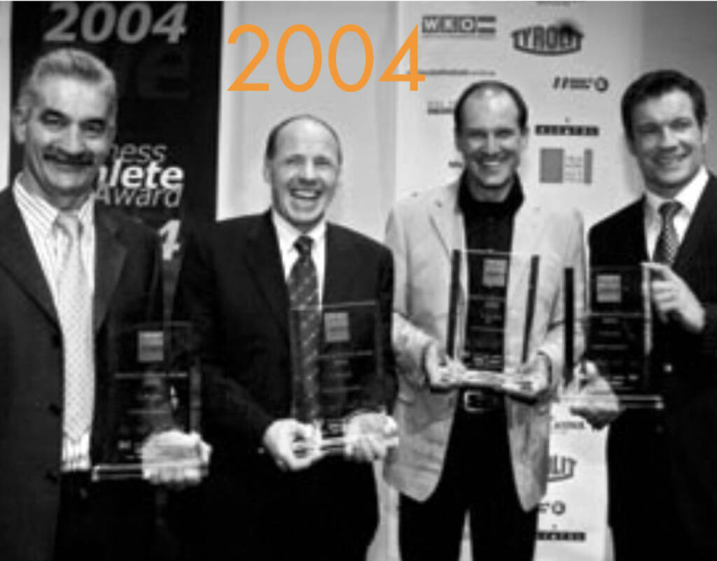 2004: Vinzenz Hörtnagl, Harti Weirather, Heinz Kinigadner, Armin Assinger (03.12.2014)