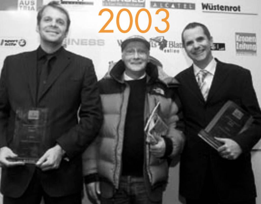 2003: Norbert Teufelberger, Niki Lauda und Wolfgang Konrad (03.12.2014)