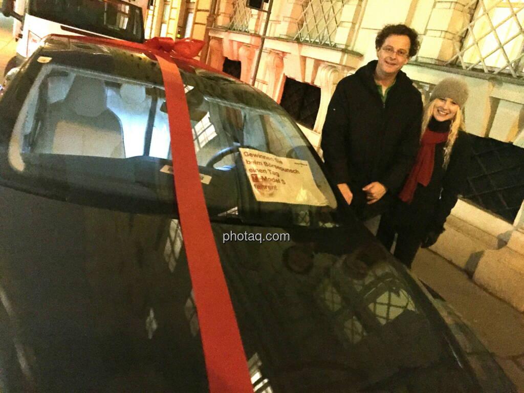 Tesla Model S mit Ernst Rach, Verkauf Österreich Tesla (06.12.2014)