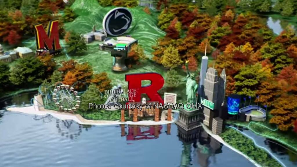 Huge thank you to Big Ten Conference for showcasing the Nasdaq Tower in your fantastic commercial. Good luck to Ohio State and Wisconsin in tomorrow's conference championship game: http://spr.ly/6184QMrq #B1GFootball  Source: http://facebook.com/NASDAQ (06.12.2014)