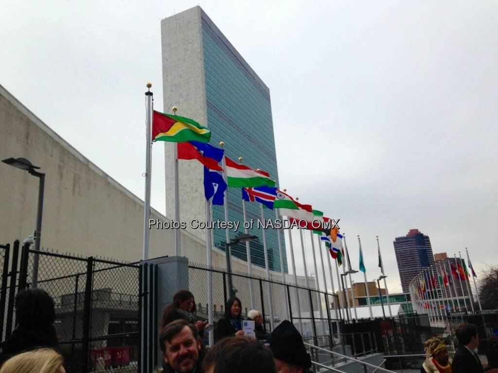 Nasdaq is at the UN headquarters today to support International Volunteering Day and Impact2030, a new initiative that seeks to capitalize on the transformative, global power of corporate volunteerism.  Source: http://facebook.com/NASDAQ (06.12.2014)
