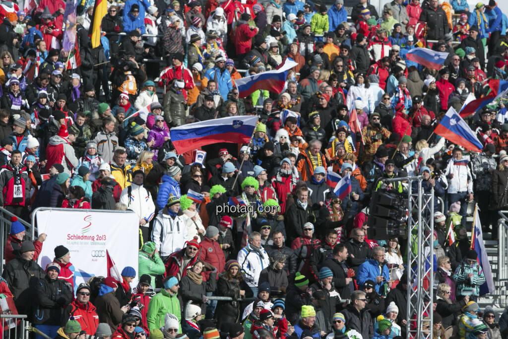 Publikum, Alpine Ski WM 2013, Schladming, © finanzmarktfoto.at/Martina Draper (09.02.2013)