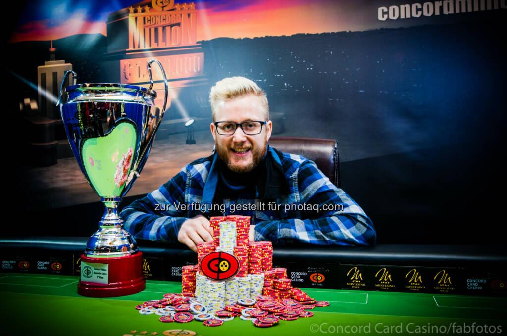 CBA Spielapparate- und Restaurantbetriebs GmbH: Der Österreicher David Packer gewinnt Millionen Pokerturnier in Wien, © Aussender (09.12.2014)