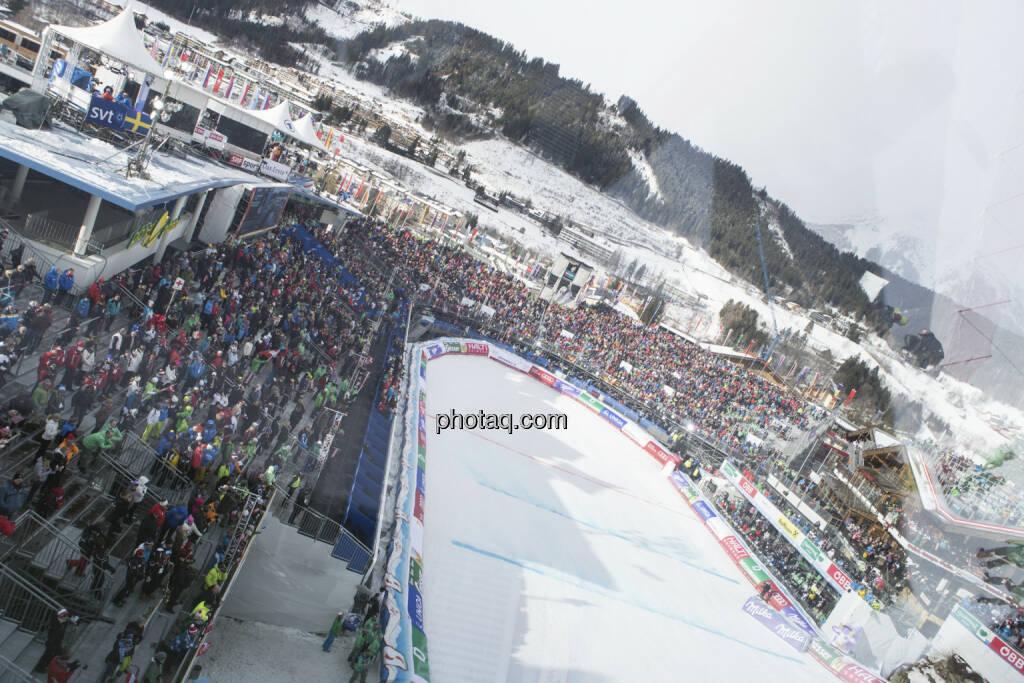Zielstadion, Alpine Ski WM 2013, Schladming, © finanzmarktfoto.at/Martina Draper (09.02.2013)