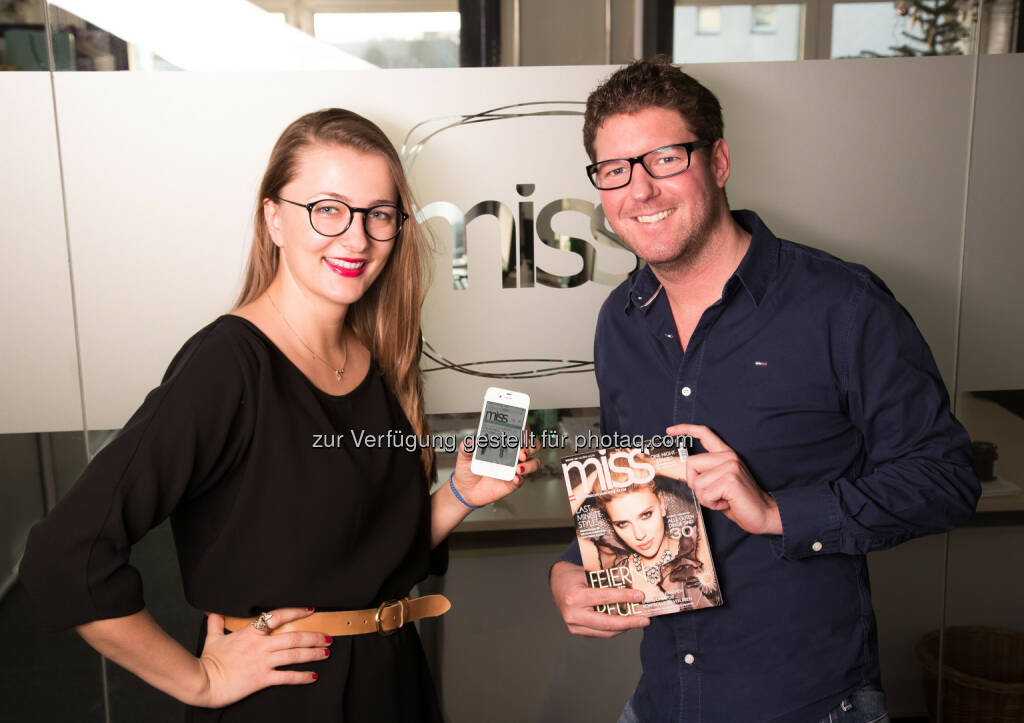 Monika Affenzeller und Jochen Hahn: Spread - PR, Marketing, Sales: miss.at setzt Aufwärtstrend fort!, © Aussender (10.12.2014)
