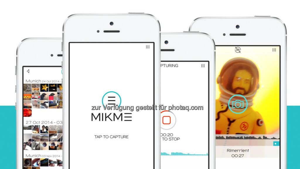 Mikme GmbH: Das in Wien gegründete Unternehmen Mikme hat ein wegweisendes App für Audio Aufnahme für das Apple iPhone(C) vorgestellt. Wer mit seinem iPhone Bilder aufnehmen kann, bringt auf Anhieb alles Wissen mit, um auch einen 8-Track-Song aufzunehmen. (11.12.2014)