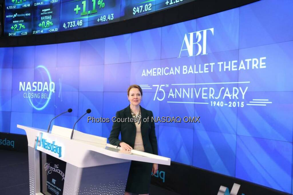 Awesome photos from the cast of The Nutcracker ringing the Nasdaq Closing Bell! American Ballet Theatre  Source: http://facebook.com/NASDAQ (12.12.2014)