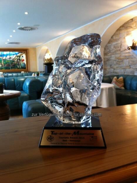 Sportalpen GmbH: Hotel Edelweiss & Gurgl gewinnt Touristic Award 2015, © Aussendung (12.12.2014)