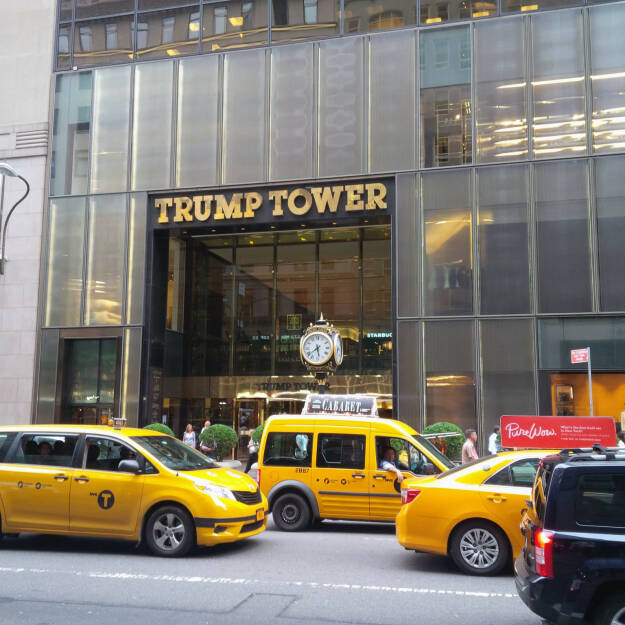 Trump Tower, Taxis, Gelb (Bild: bestevent.at) (13.12.2014)